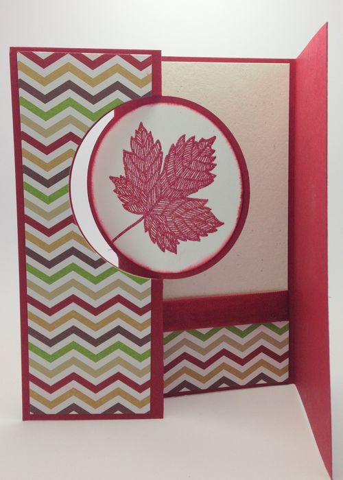 Stampin Up! circle framelit card with bonus side