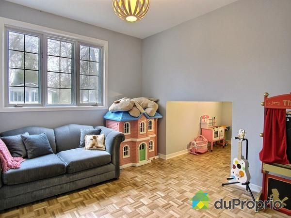 Playroom with hidden child-size secret nook, perfect as a reading corner or indoor club-house! Could also be used as extra storage space.