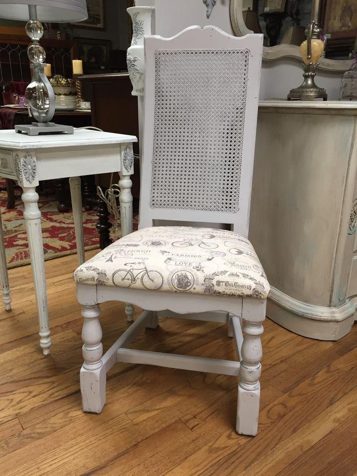 Bon Shabby Chic Cane Back Chair #canechair #furniture #shabbychic