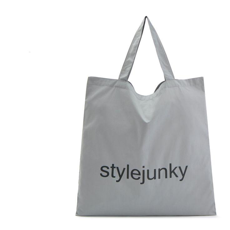 Free Shipping Cotton Shopping Bags Gray Large Women Handbags Shoulder Bags Shopping Bag SGJM064 #Affiliate
