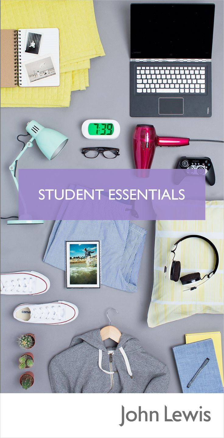 Prepare for student life with our University Essentials – we've collected everything you'll need for work, rest and play. From laptops and headphones to home furnishings and fashion, we have everything you need to get a head start at University, as well as those little luxuries that make a room feel like home.