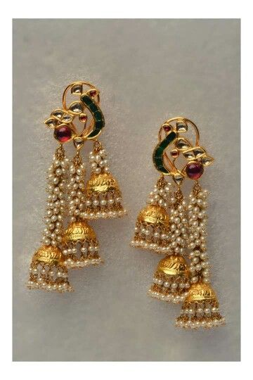 Gold Kundan Meena Earings <3                                                                                                                                                      More