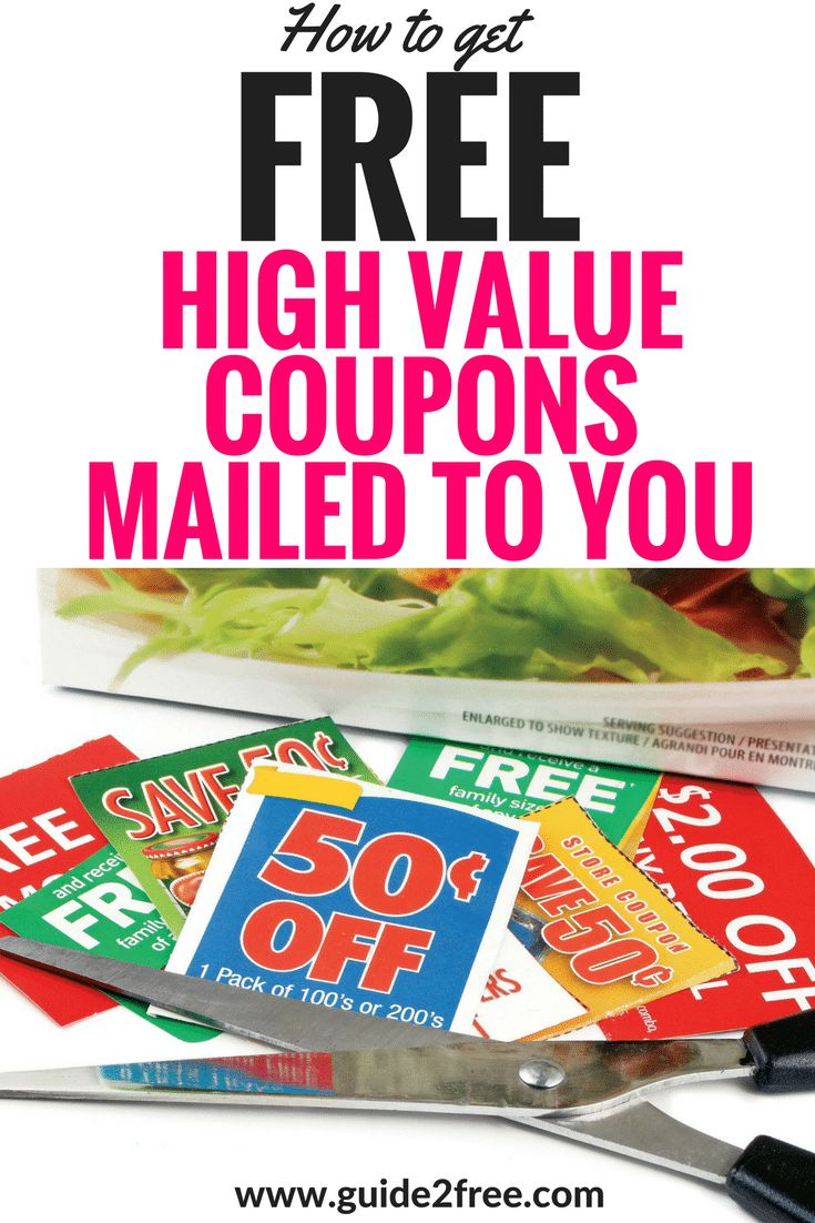 Did you know that you can email companies to request FREE Coupons By Mail?  You can tell them how much you like their products, or hate them, or even tell them you just want to try them for the first time.  A lot of times they will send you FREE Coupons B