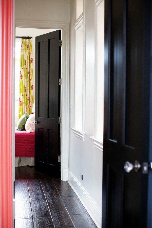 1000 images about interior doors painted on pinterest dark doors black interiors and - Sophisticated black interior doors ...