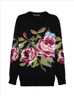 Dolce & Gabbana | Rose-patterned wool sweater