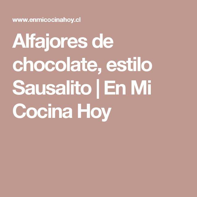 Alfajores de chocolate, estilo Sausalito | En Mi Cocina Hoy