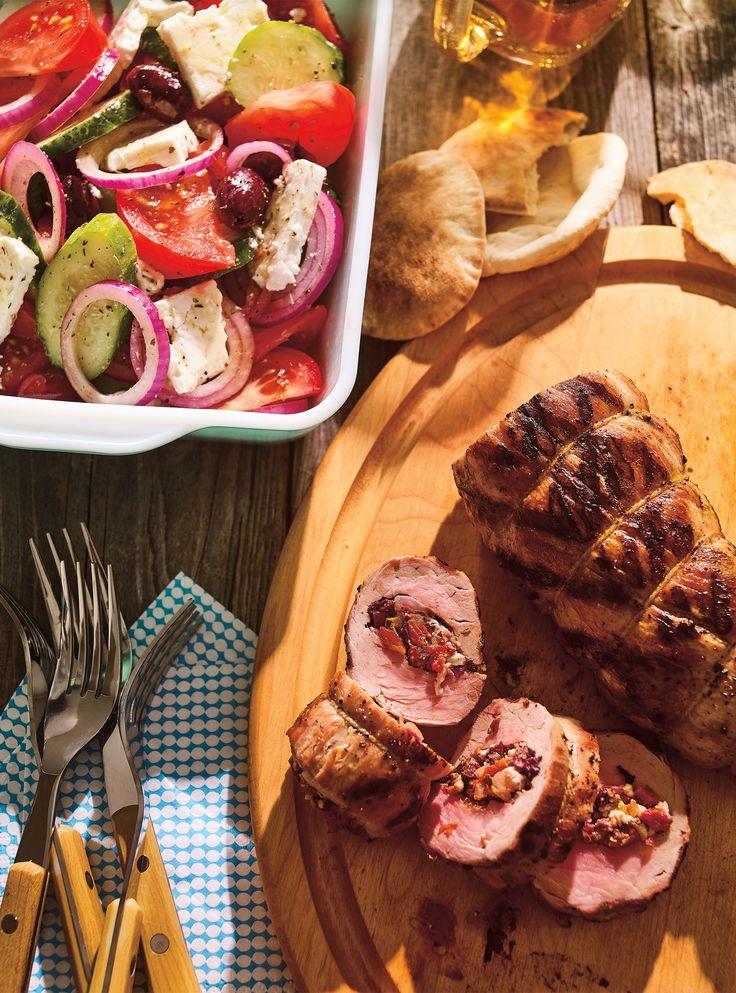 Recette de filet de porc à la salade grecque de Ricardo