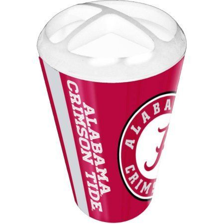Ncaa University of Alabama Decorative Bath Collection Toothbrush Holder, Red