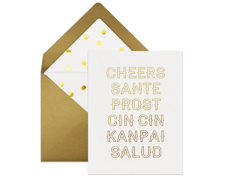 """""""Cheers in Six Languages""""   Show how international you are, even if these are the only words you know! =P Perfect for any celebratory occasion! #greetingcards"""
