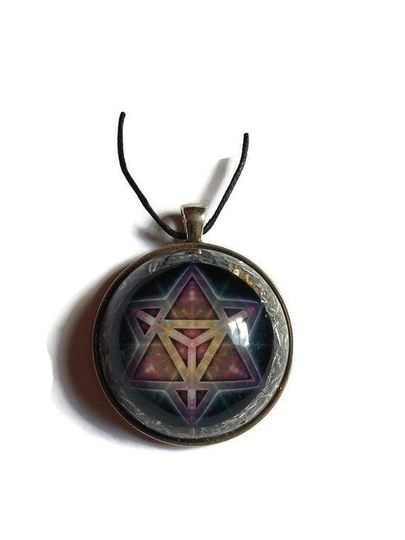 Sacred geometry fractal Orgonite pendant  by OrgonizeYourLife