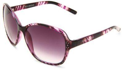 Rocawear Women's R3003 OXPR Round Sunglasses,Black Frame/Smokey Purple Gradient Lens,One Size Rocawear Sunwear. $30.76