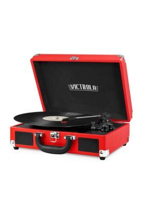 Victrola Portable Suitcase Record Player With Bluetooth - Red - One Size