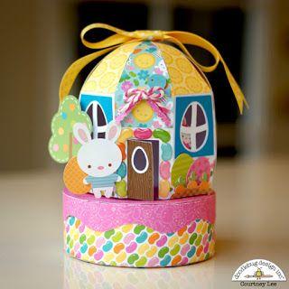 Doodlebug Design Inc Blog: Bunnyville Collection: 3D Bunny House with Courtney