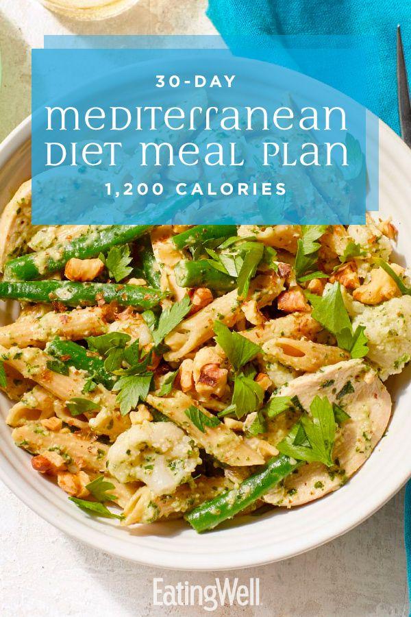 30 Day Mediterranean Diet Meal Plan 1 200 Calories Mediterranean Diet Recipes Mediterranean Diet Meal Plan Healthy Meal Plans
