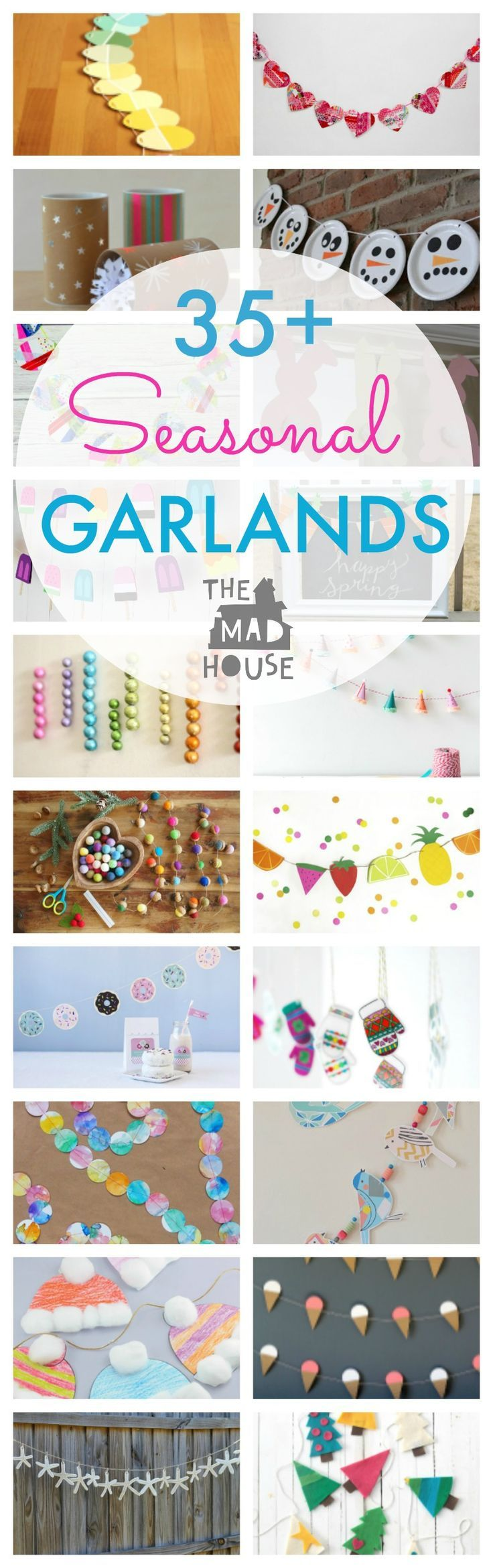 Simple Seasonal DIY Garlands. Celebrate the seasons with a selection of fab garlands that you can make yourself or with the kids.