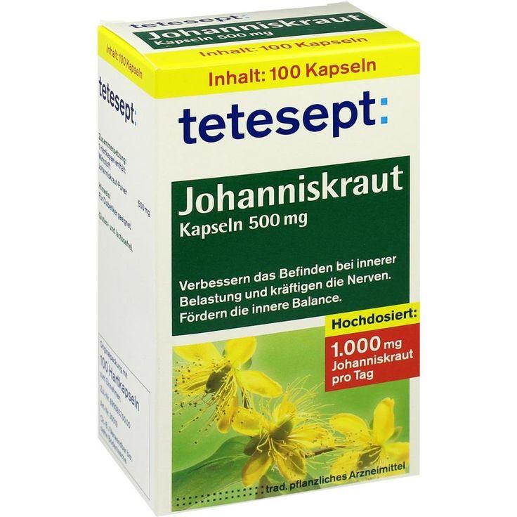TETESEPT Johanniskraut-Kapseln:   Packungsinhalt: 100 St Hartkapseln PZN: 08518216 Hersteller: Merz Consumer Care GmbH Preis: 7,22 EUR…