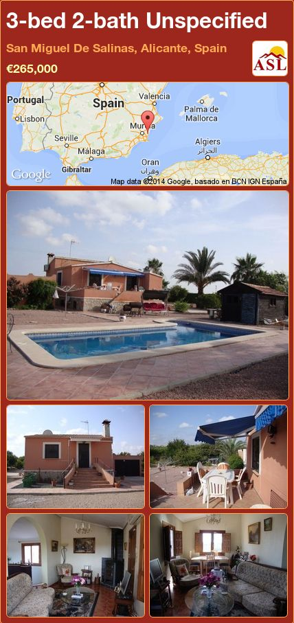 3-bed 2-bath Unspecified in San Miguel De Salinas, Alicante, Spain ►€265,000 #PropertyForSaleInSpain