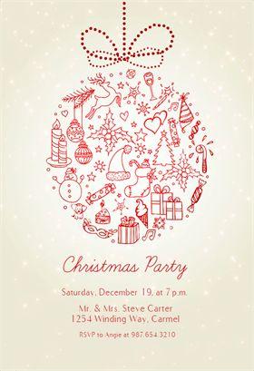 Die besten 25+ Christmas invitation templates Ideen auf Pinterest | Feiertags-Party Einladungen ...