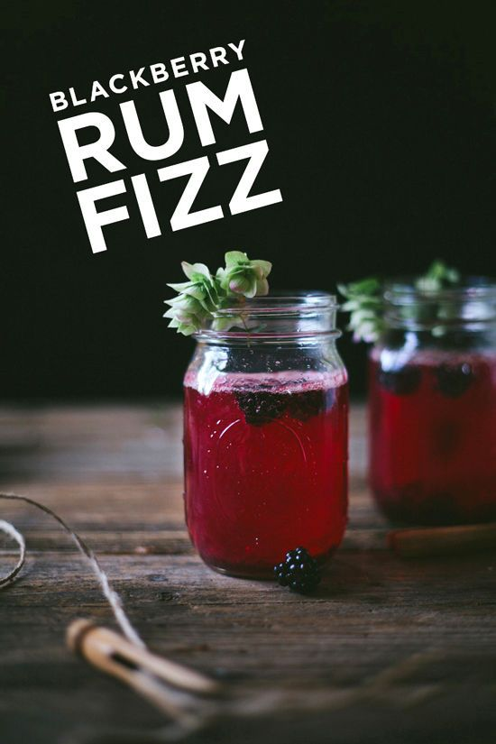 blackberry rum fizz