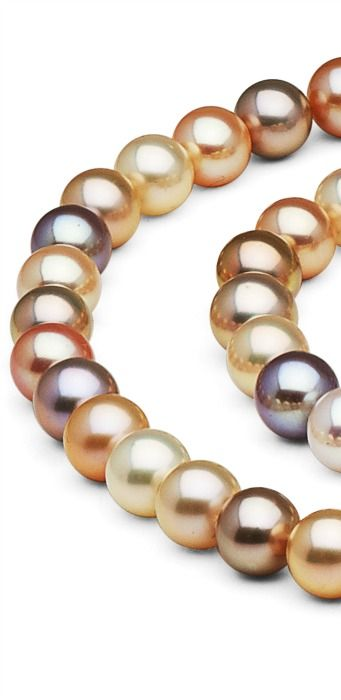 multicolor #Freshwater Orient collection #pearl jewelry set  http://www.pearldistributors.com/freshwater-orient/