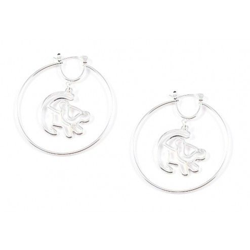 Disney Couture Platinum Plated Simba Outline Hoop Earrings at aquaruby.com