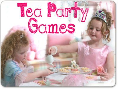 Tea Party Games for a fun and fabulous Par-Tea! http://www.queen-of-theme-party-games.com/tea-party-games.html