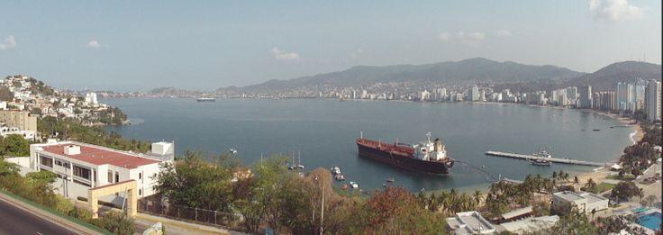 Vista de la Bahia de Santa Lucia, desde el Fraccionamiento Joyas de Brisamar