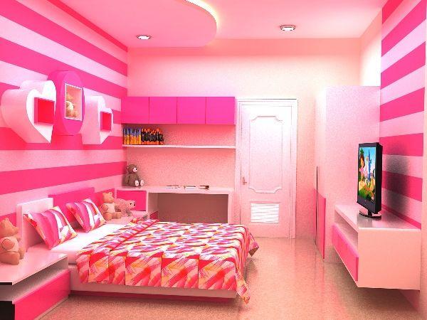 Minimalist Girls Bedroom Pink Color Pink Bedroom For Girls Bedroom Bedroom Inspirations Pink luxury unicorn room kamar