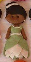 Detalhes e Artes: Moldes das Bonecas Princesas Disney em Feltro: Tiana - A Princesa e o Sapo