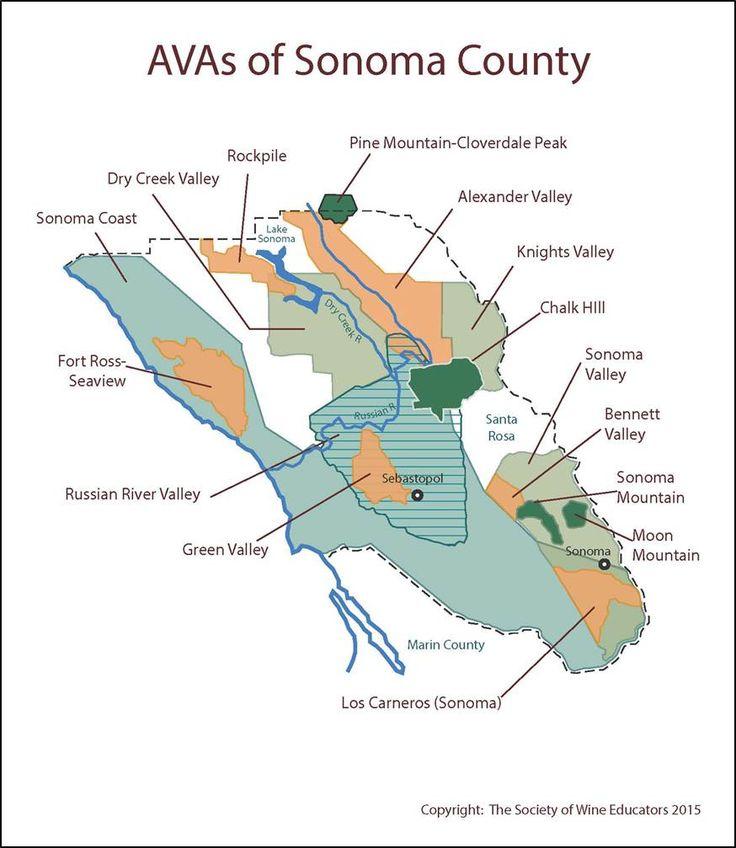Wine Regions of Sonoma #wine #wineeducation