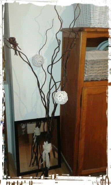 Déco avec des branches de saule
