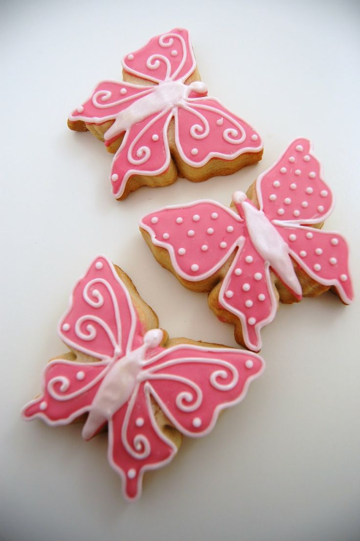 Image Detail for - Pink shimmery, spotty, swirly pretty lemon flavoured butterfly cookies