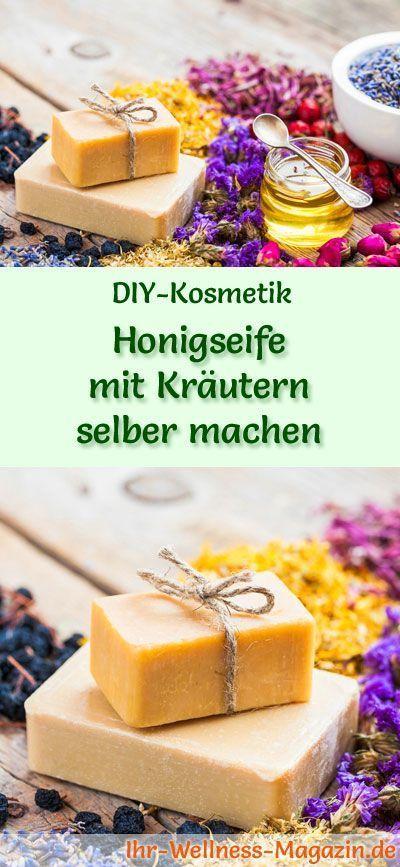 Making herbal honey soap yourself - soap recipe & instructions  -  Hautpflege-Rezepte