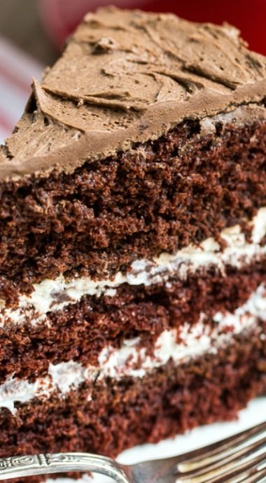 Chocolate Cake with Cream Filling                                                                                                                                                                                 I need this in my life asap