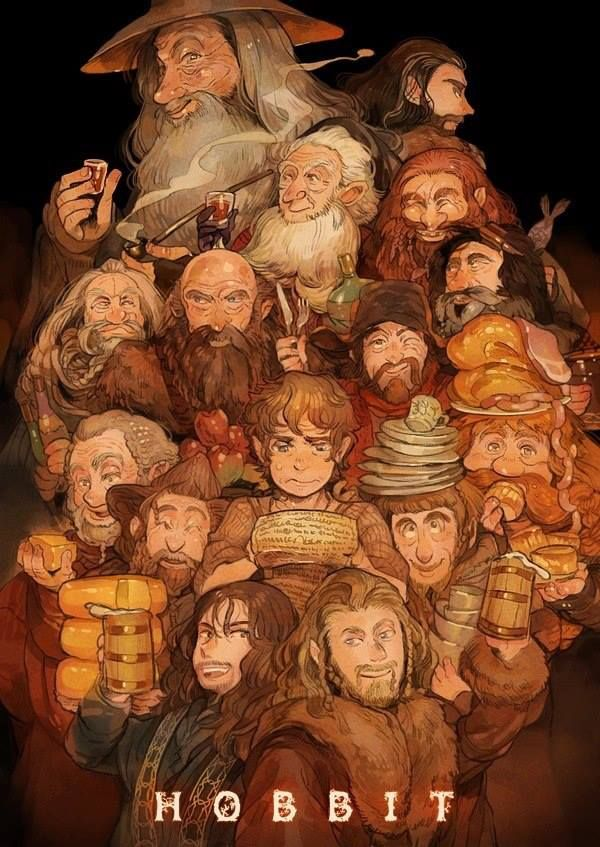 """The Hobbit...Dwarfs are """"cracking"""" good cooks and party."""