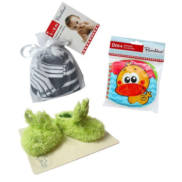 Leuk pakket: Sokjes en romper van Bambino, Happy Horse slofjes en een Bambino badboekje. Voor maar € 11,95 inclusief verzendkosten! #kraamcadeau #kraampakket