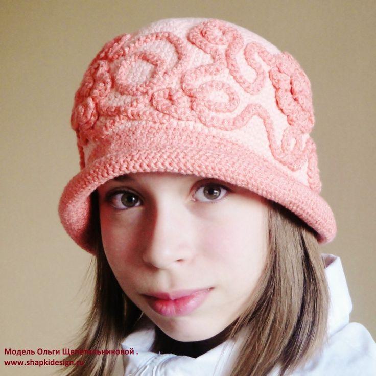 вязание крючком шапки и шляпы для девочек
