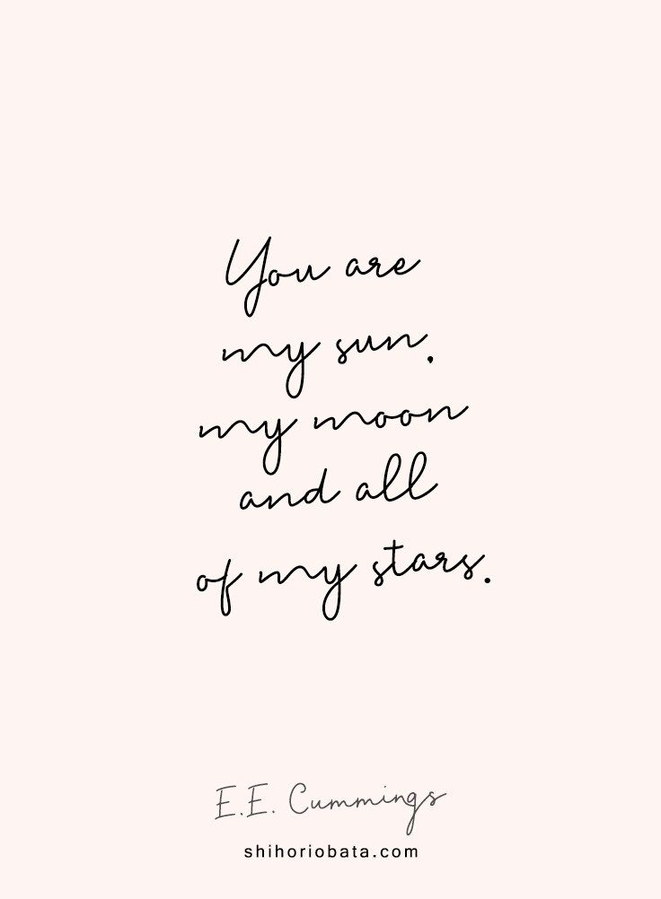 A Beautiful Collection of Short Love Quotes | Moon, star ...