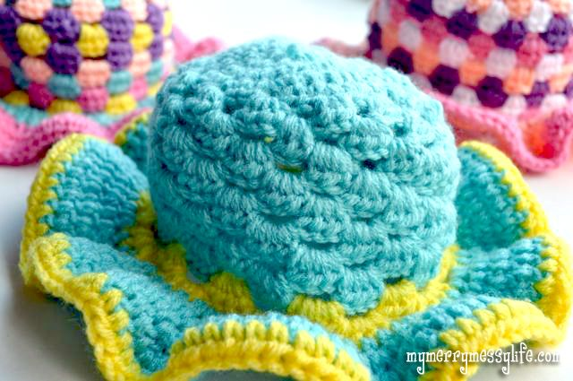 Crochet Toddler and Baby Sun Hat (Granny Stitch) {free crochet pattern}