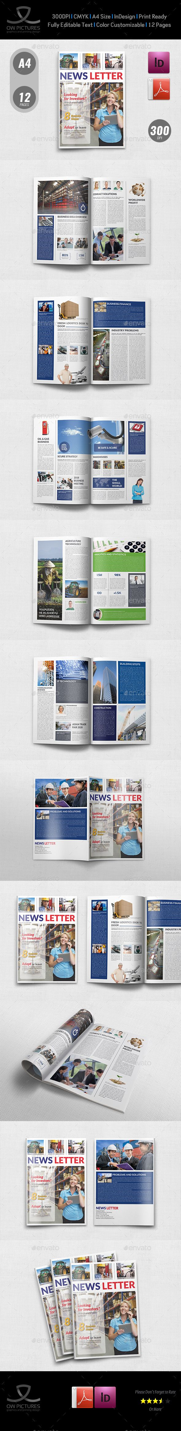 #Multipurpose Newsletter - 12 Pages - #Newsletters Print #Templates Download here:  https://graphicriver.net/item/multipurpose-newsletter-12-pages/19166458?ref=alena994