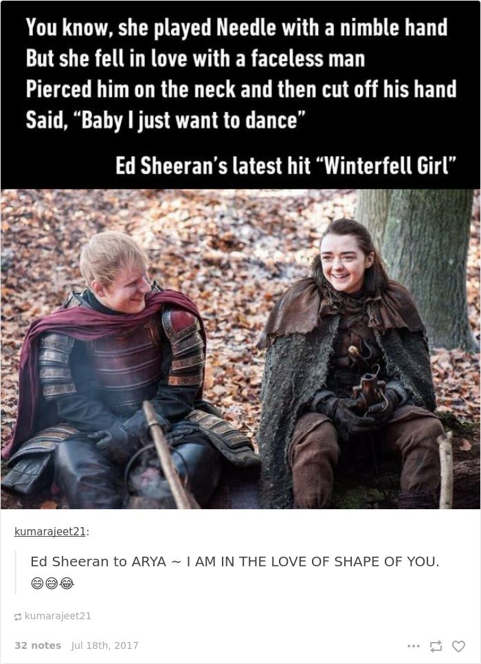 Best Game Of Groans Images On Pinterest Valar Morghulis - 17 hilarious reactions to ed sheeran appearing in game of thrones