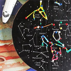 Make a simple constellation geoboard for a great kid's astronomy project! This tutorial includes a template/instructions.