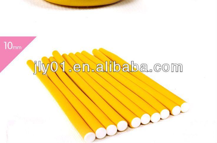 flexible foam hair rollers rubber flexy hair roller inside iron wire rubber twist hair rollers $0.05~$0.1