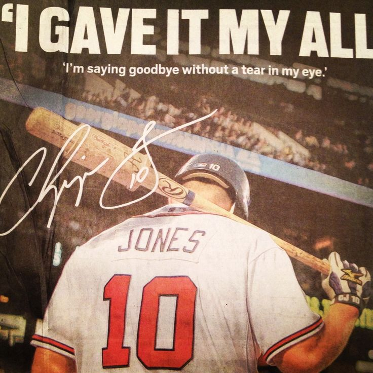 Chipper Jones:  a study in the right way to retire from professional sports.  #firstballotHOF #ilovenumber10