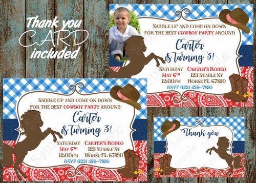 25+ best cowboy invitations ideas on pinterest | cowboy party, Birthday invitations