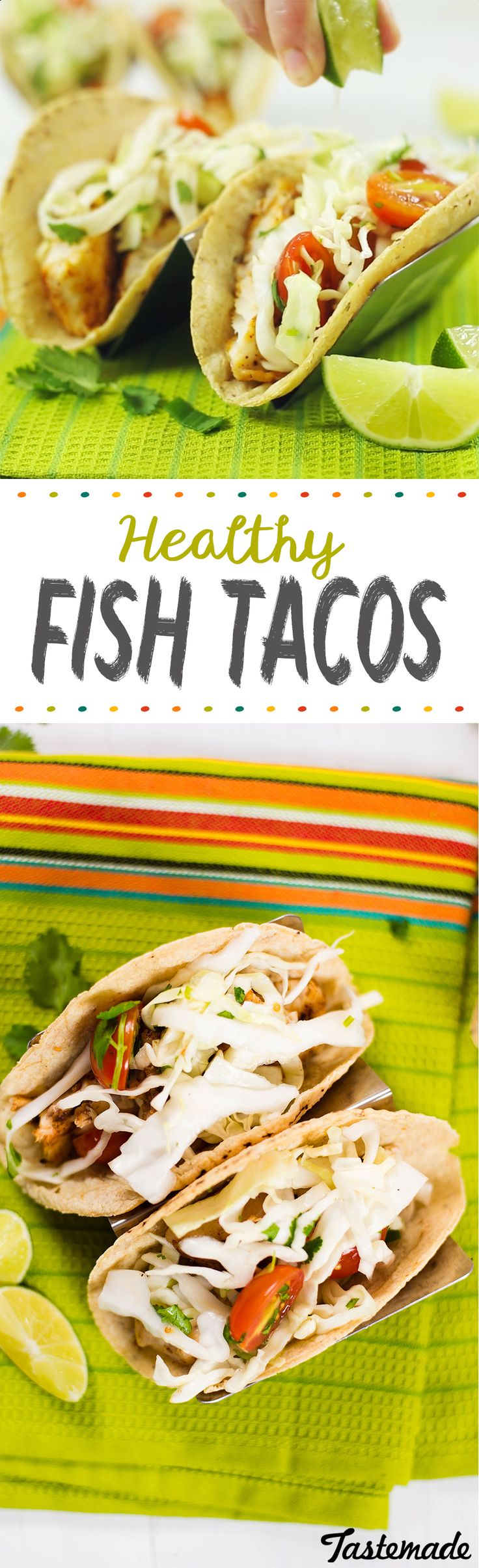 A lighter taco on taco night. These healthy fish tacos could not be easier to throw together. Save the recipe on our app! http://link.tastemade.com/HE7m/H1wHe4m2mA