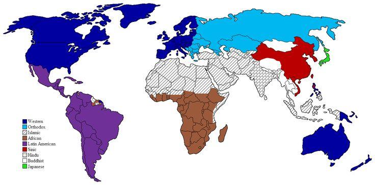 Clash of Civilizations map - Samuel P. Huntington - Wikipedia, the free encyclopedia