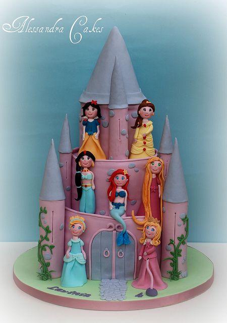 Disney Princess Birthday Cake for Her