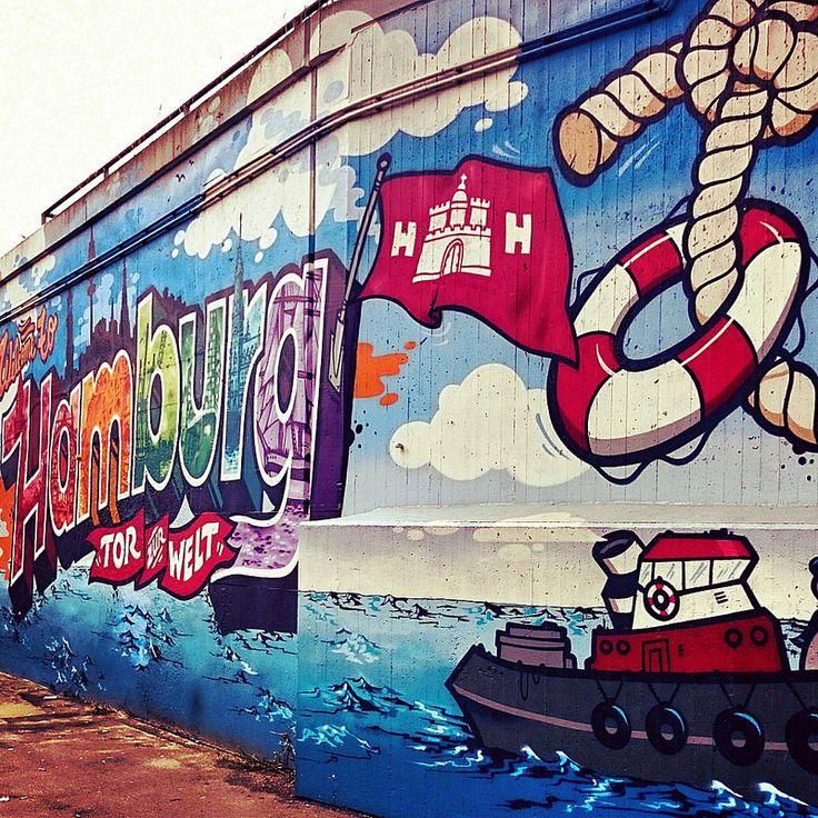 #Graffitikunst - Liebe zu #Hamburg ⚓
