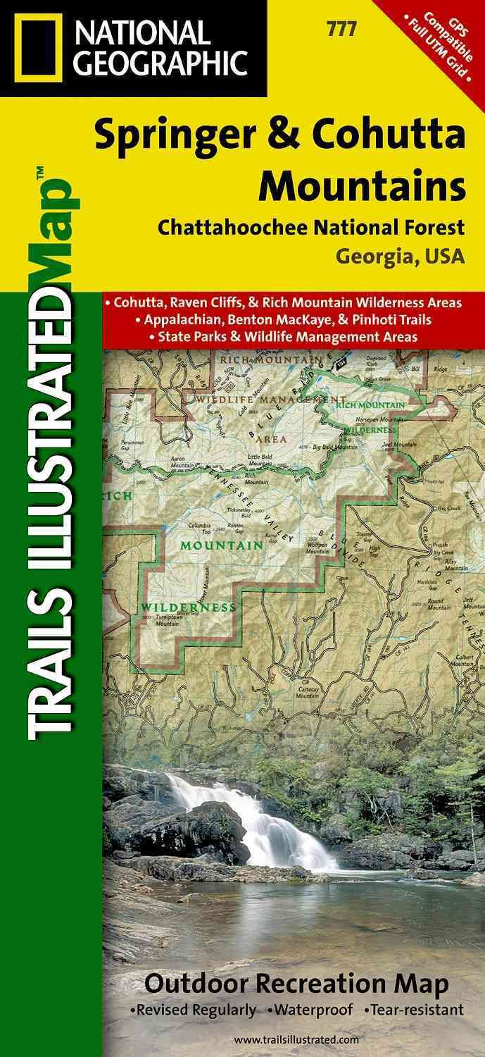 National Geographic Trails Illustrated Map Springer & Cohutta Mountains, Chattahoochee National